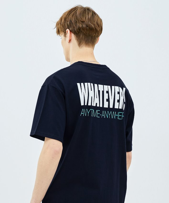 Slogan T-shirt_navy