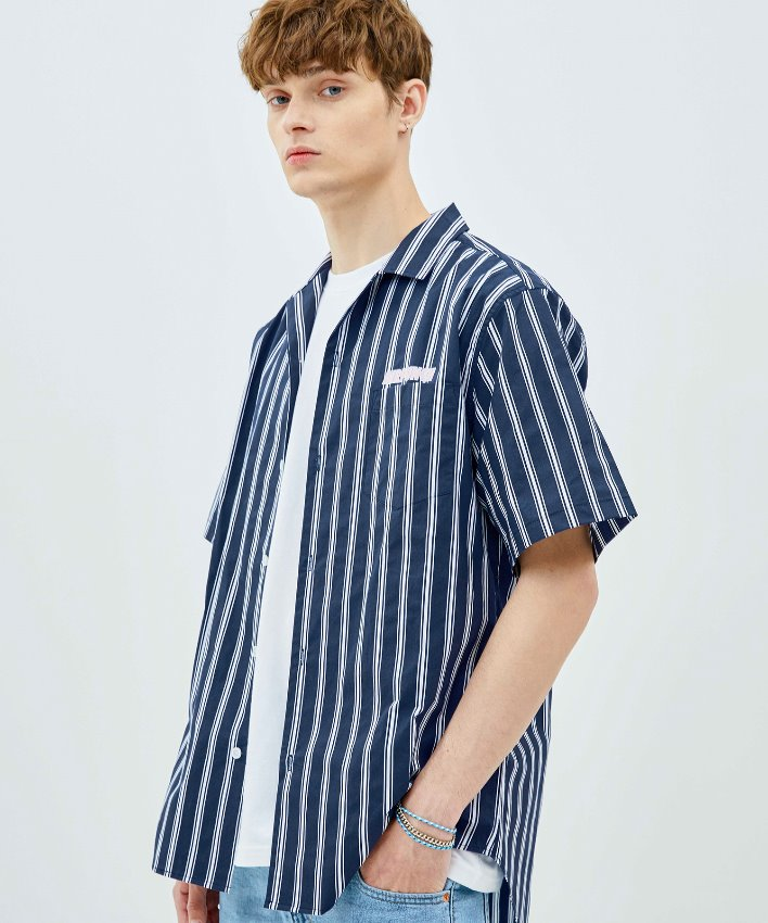 Stripe Shirt_navy